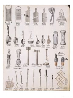 Kitchen Utensils, from a Trade Catalogue of Domestic Goods and Fittings, c.1890 1910 Giclee Print