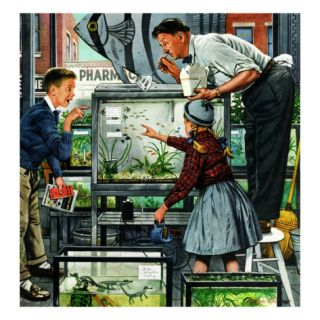 Fish Aquarium, October 30, 1954 Giclee Print by Stevan Dohanos