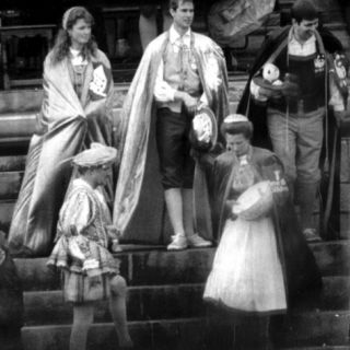 Duchess of York Sarah Ferguson, Prince Edward, Princess Anne and Duke of York Prince Andrew Photographic Print