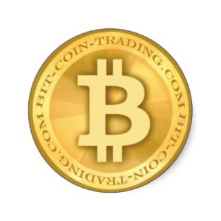 Bit coin trading Logo Round Sticker