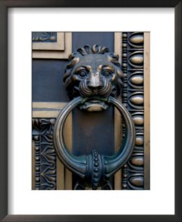 Lion Headed Handle on Door of Baltimore City Courthouse, Baltimore, Maryland, USA Pre made Frame