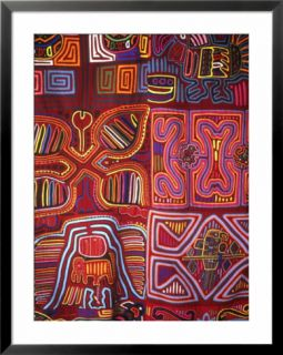 Native Indian Artwork, Mola, Panama Pre made Frame