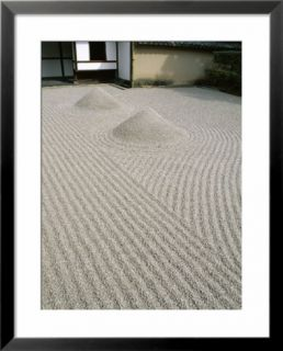 The Great Ocean Rock, Daisen In Zen Garden, Daitokuji Temple, Kyoto, Honshu, Japan Pre made Frame