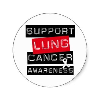 Support Lung Cancer Awareness Sticker