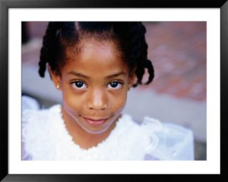 Portrait of Young Girl, Baton Rouge, U.S.A. Pre made Frame