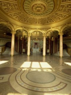 Interior of the Entrance Lobby of the Atheneum Concert Hall in Bucharest, Romania, ope Photographic Print by Tom Ang
