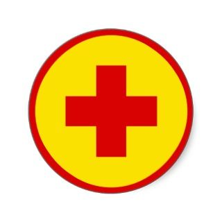 Lifeguard Logo Round Stickers