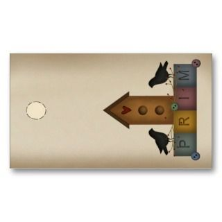 Prim Birdhouse Hang Tag Business Card