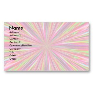 psychedelic business calling card has a rainbow color effect