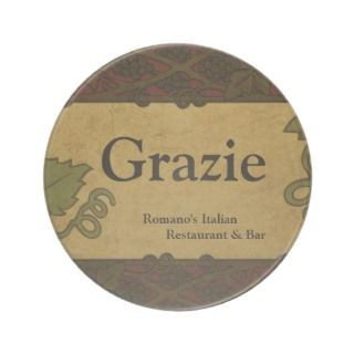 Italian Style   Restaurant/Store Add Coaster