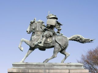 Statue of Kusunoki Masashige a Samurai Warrior, Imperial Palace, Tokyo, Japan, Asia Photographic Print by Christian Kober
