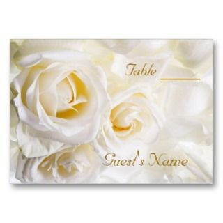 White Roses Wedding Invitation