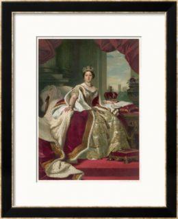 Queen Victoria Circa 1845 Framed Giclee Print