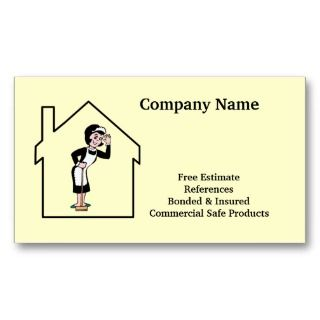 fabulous business cards designed for your house cleaning business