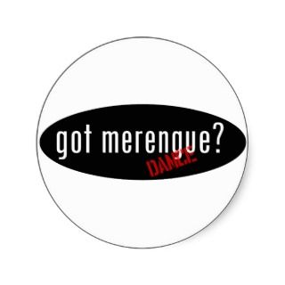 Merengue Items – got merengue Round Sticker