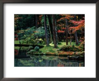 Saiho Ji Garden in Autumn, Kyoto, Japan Pre made Frame