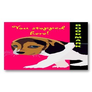 Cute Dog Bookmark Business Cards