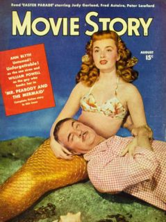 Ann Blyth   Movie Story Magazine Cover 1940s Masterprint
