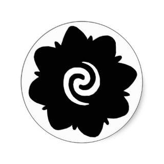 borneo flower sticker