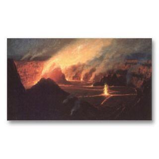Volcano, ca. 1880s Hawaii Business Card Template