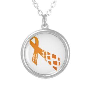 Orange Ribbon for Multiple Sclerosis Pendants