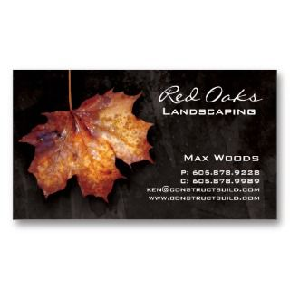 Landscaping Business Card with cool background great for any landscape