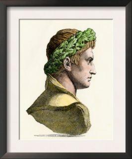 Caesar Augustus, First Roman Emperor Pre made Frame