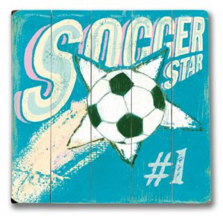 Soccer Star (Girl) Wood Sign