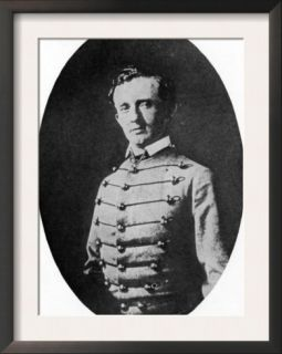 General George Custer as a West Point Cadet. 1800s Pre made Frame