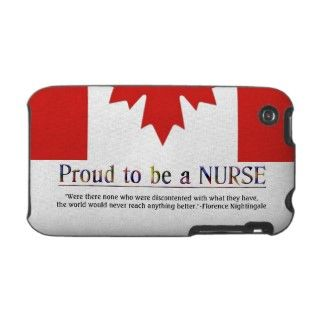 Proud to be a Nurse with Quote+Canadian Flag iPhone 3 Cases