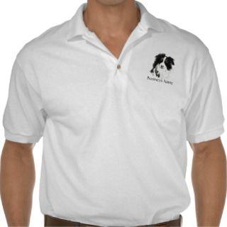 Custom Logo, Border Collie, Dog Business Polo T shirt