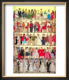Barbie Doll Collection, Retro Pre made Frame
