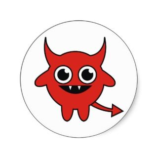 Cute Red Devil Sticker