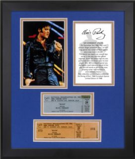 Elvis Presley 68 Special 40th Anniversary framed photo with replica ticket Framed Memorabilia