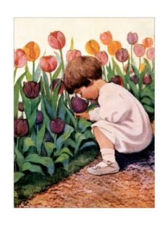 Tulip Time Print by Jessie Wilcox Smith