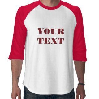 Mens Basic 3/4 Sleeve Raglan 2 White/Red Tee Shirts