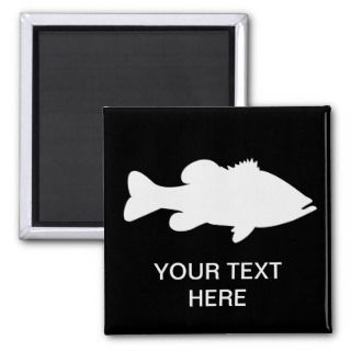 Largemouth Bass Fishing template Magnets