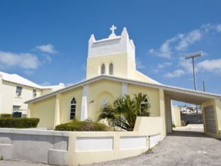 St. Josephs Roman Catholic Church, Somerset, Bermuda, Central America Photographic Print by Michael DeFreitas