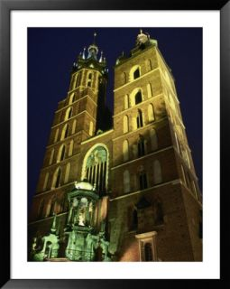 St. Marys Church, Rynek Glowny Town Sq, Krakow Pre made Frame
