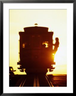 Silhouetted Cable Car, California Street, San Francisco, United States of America Pre made Frame