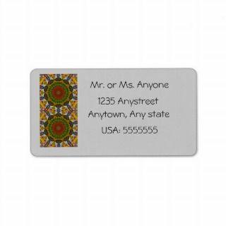 Green Fall Colors Tile 68 Custom Address Labels