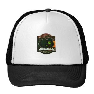 LEPRECHAUN PERSONALIZED PUB TEMPLATE TRUCKER HATS