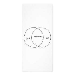 You Me Awesome Venn Diagram Rack Card Template