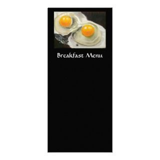 BREAKFAST MENU RACK CARD EGGS ARTWORK