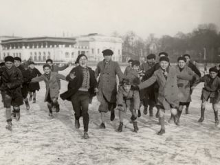 Ice Skating on Lake of Enghien (1933) Photographic Print