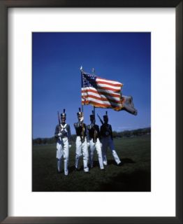West Point Cadets Carrying US Flag Pre made Frame
