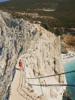 Porto Katsiki Beach, West Coast of Lefkada, Ionian Islands, Greek Islands, Greece, ope Photographic Print by Robert Harding