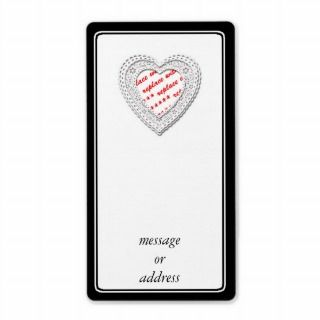 Laced Heart Shaped Photo Frame Template Custom Shipping Labels