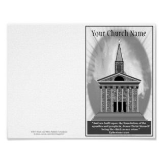 Reprintable Church Bulletin Master Template