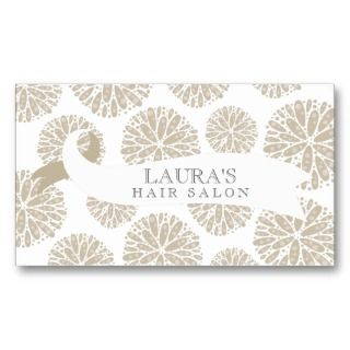 Vintage Wallpaper Scissors Hair Salon Business Business Cards